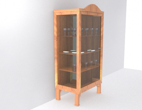 Render of a cabinet for World War Sport: Dodgeball