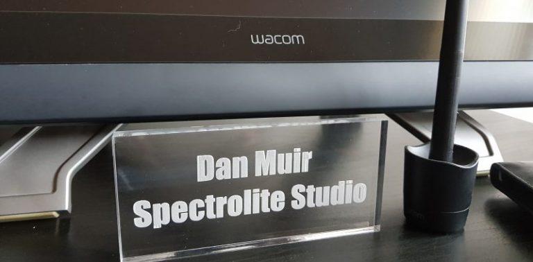 Dan Muir Spectrolite Studio Sign
