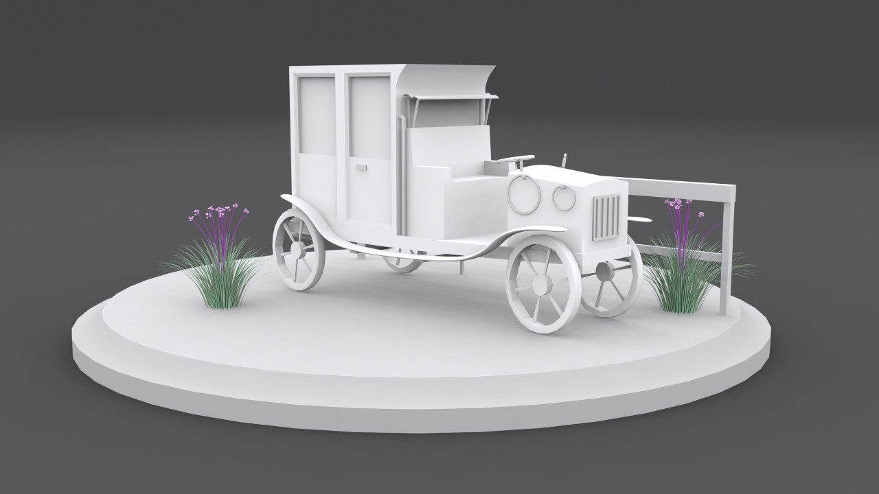 Render of a french taxi for our game at Spectrolite Studio